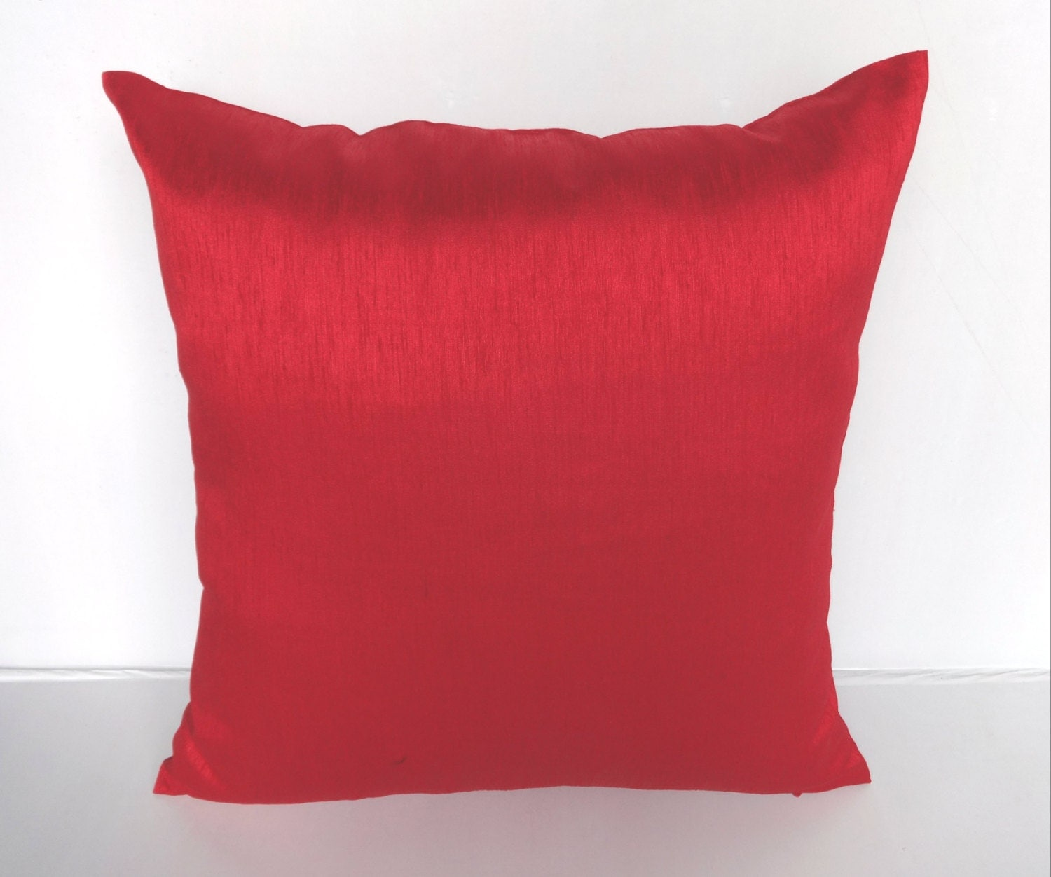 Bright Red cushion cover and throw pillow 18 inch price for