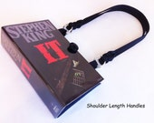 Stephen King IT Book Purse - Stephen King Collector Gift - Evil Clown Accessory - Childhood Nightmare Handbag