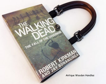 Walking Dead Zombies Recycled Book Purse - Zombie Gift - Fall of the Governor Walking Dead