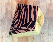 Animal print Zebra Wood clutch Free personalizing Best shower or anniversary gift recipes box trinkets box 2 designs in 1