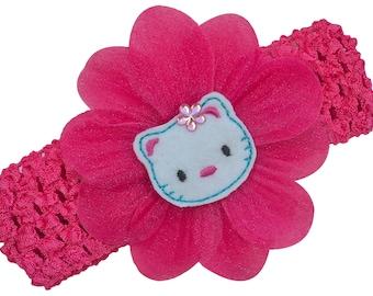 Embroidered Felt Kitty Baby Girl Headband