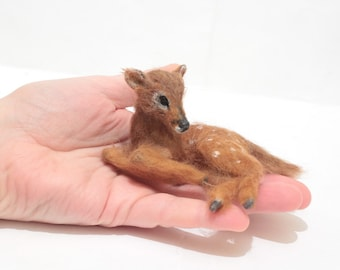 OOAK Miniature Fawn Deer by Malga