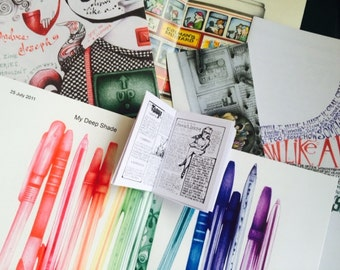 SALE!! 5 Pack Art Zines by Andrea Joseph How To Draw plus more