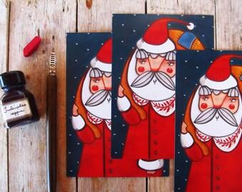 SALE Christmas postcard set, postcards lot Santa Claus