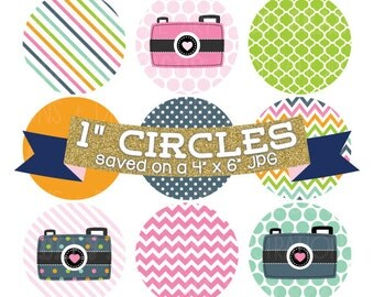 ON SALE Digital Bottlecap Images Cameras & Photography Instant Download Bottle Cap Graphics Digital Collage Sheet One Inch Circles 4x6 JPG