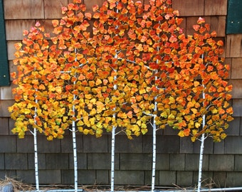 Fall Colors! Aspen Grove Sculpture for the wall