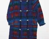 SALE Save 50% Vintage Woolrich Tribal / Rustic / Native Blanket Coat