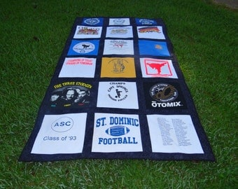 Custom Made Tee Shirt Quilt from your Own Tshirts