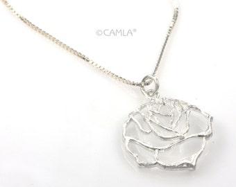 SALE Rose Cutout Necklace