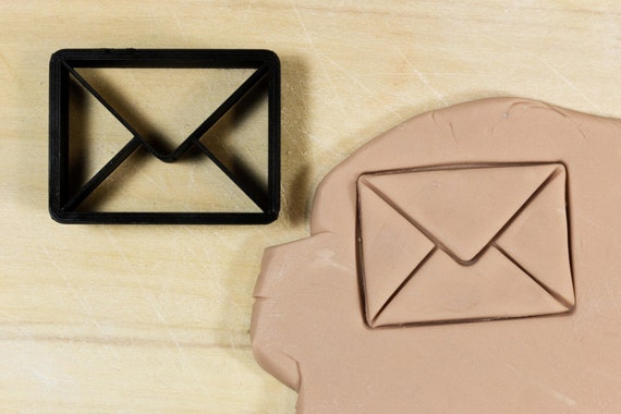 Mail Envelope Cookie Cutter Fondant Cutter 3D by TeptecStudios
