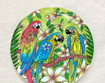 Parrot Paradise Ornament and Suncatcher