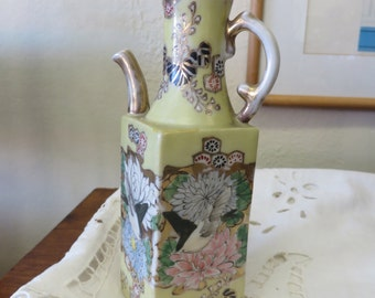 Antique Asian Hand Painted Pitcher