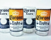YAVA Glass - RESERVED for Lily - Upcycled Corona Extra and Light Beer Bottle Glasses (Variety Set of 24)