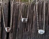 Custom Natural Rose Cut Diamond Necklace