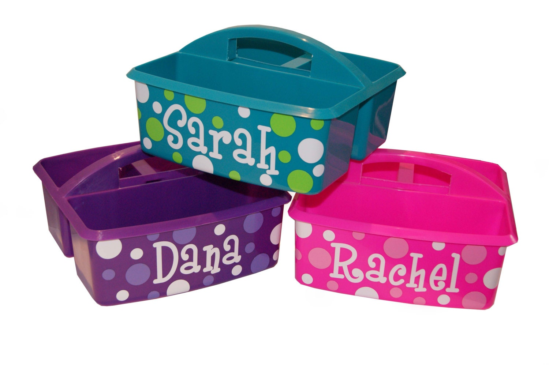 personalized kids storage art supply bath caddy. Black Bedroom Furniture Sets. Home Design Ideas