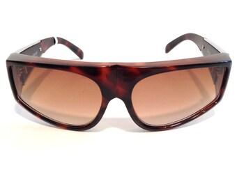 Vintage sunglasses retro sunglasses versace sunglasses Brown sunglasses tortoise Shell sunglasses Designer Sunglasses vintage versace frames