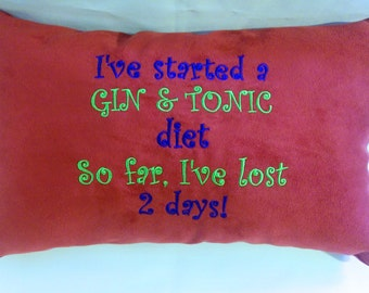 Gin and Tonic Diet Pillow