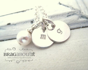 Personalized Necklace . Personalized Hand Stamped Jewelry . Personalized Jewelry. Brag About It . Initial Brags