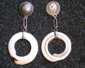 SALE!! Conus Shell Dangle Earrings