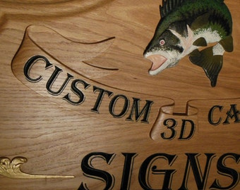 Custom Carved 3D Signs