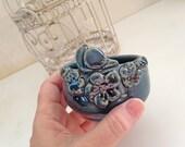 Bird Ring Bowl Jewelry Dish Stoneware Bowl