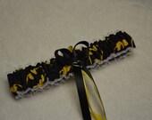 Handmade wedding garter toss BATMAN wedding garter