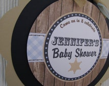 Cowboy Baby Shower Decorations, Baby Shower Decorations, Baby Shower Décor, Cowboy Baby Shower DOOR SIGN, You Choose The Colors