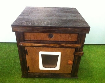 LARGE heated  CAT HOUSE /2 doors(Ships Next Bus. Day) bed, shelter, sanctuary