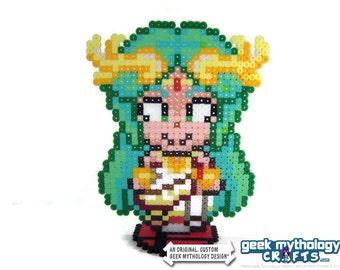 Palutena Super Smash Bros Kid Icarus - Perler Bead Sprite Pixel Art Character Figure
