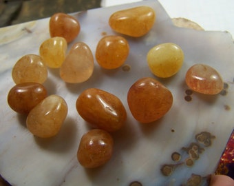Azeztulite - 1 Gold Azeztulite tumbled polished at random - 3/4 to 1 inch tumbled polished wire wrap supply -tumbled stone yellow himilayan