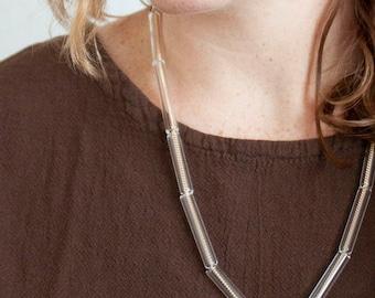 Multi Glass Tube Necklace