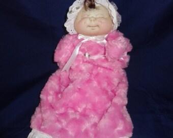Handmade soft sculptured baby doll puppet - Princess