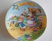 "Avon Vintage Easter Plate 5"" Plate Easter 1993 Easter Parade Porcelain Plate Display Item Collectible Plate"