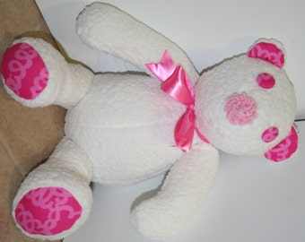 Bear made with Lilly pulitzer fabric