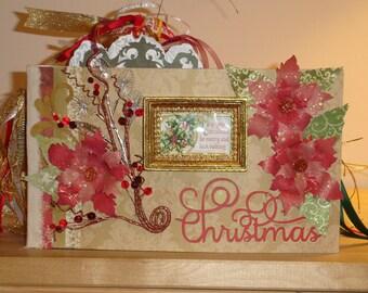 Lavishly Decorated Oversized Christmas Photo Album OOAK Original
