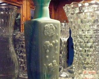 Milk Glass Liquor Bottle