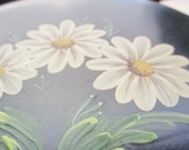 Two Vintage Tole Painted Tin Round Boxes