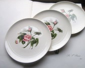 3 Vintage Dishes * Rose * Ballerina Logo * Oven Proof