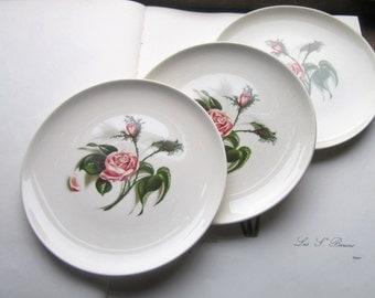 3 Vintage Dishes * Rose * Ballerina Logo * Oven Proof