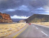 "Oil Painting, ""Road to Sedona,"" Original Oil Painting Landscape, 10x8, Southwestern Landscape Art on Canvas"