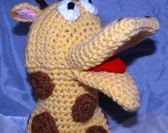 Crochet Giraffe Hand Puppet