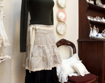 patchwork apron in wrap skirt style