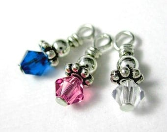 Add On -- Swarovski Crystal Birthstone for Any Necklace or Key Chain