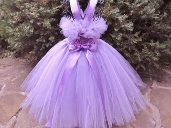 Pansy light purple tutu dress flower girl photo shoots birthdays