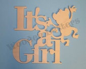It's A Girl - shower, gift, new mother, monkey, anchor