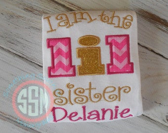 I Am The  Lil Sister Bodysuit or Ruffle shirt, New Baby, Sibling Shirt, Big Sister, Little Sister, Coming Home New Baby Shirt