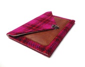 iPad / iPad Air / iPad Mini case with a pocket - magenta plaid