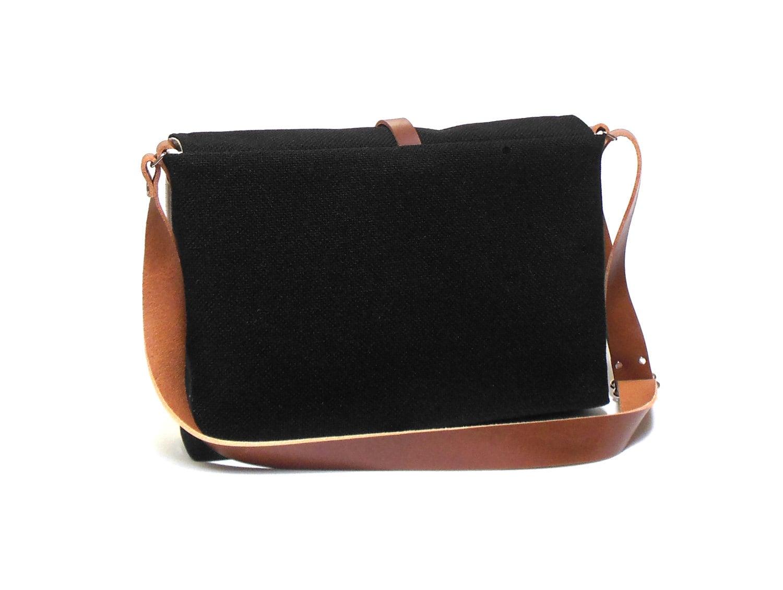 macbook air messenger bag black by mooseandpine on etsy