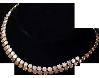 Lavish COGNAC Chatons & A.B. Chatons Estate Choker Necklace