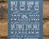 "Framed Art Print - Romans 15:13 - ... 5""x7"" - custom color, size, frame available"